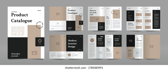 simple company product catalogue design template