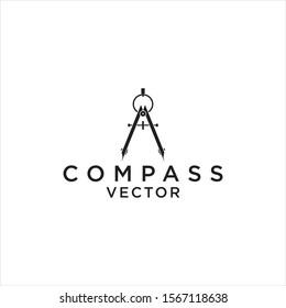 simple compass architect vector logo design