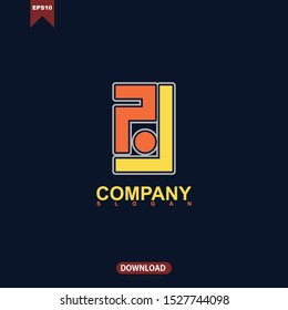 Simple concept initial letter RJ logo vector design