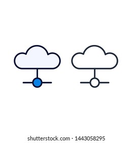 simple conection icon Vector Template Flat Design
