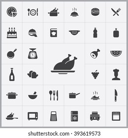 Simple cooking icons set. Universal cooking icons to use for web and mobile UI, set of basic cooking elements