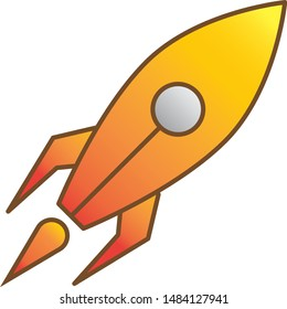 Simple and cool rocket illustration