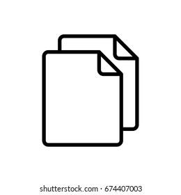 Simple Copy icon. Replication file outline symbol. Duplicate app sign. Simple User interface element. Creative UI item. EPS10 vector.