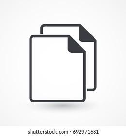 Simple Copy icon. Replication file symbol. Duplicate app sign. Simple User interface element. Creative UI item. EPS10 vector.
