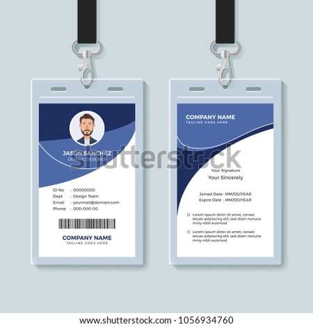 simple corporate id card design template のベクター画像素材
