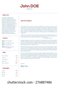 Simple cover letter design for resumes and cvs