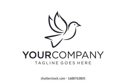 Simple and creative bird logo design vector editable