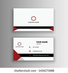 simple creative business card design red black