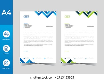 Simple creative Colorful and Modern abstract letter head business templates for your project.clean design and Vector illustration