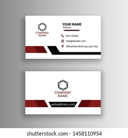 simple creative white black business card design vector illustration
