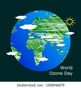 Simple and creative World ozone day concept. Beautiful and simple element.