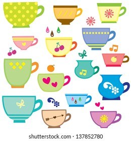 simple cups digital clip art