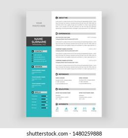 Resume Template Images Stock Photos Vectors Shutterstock