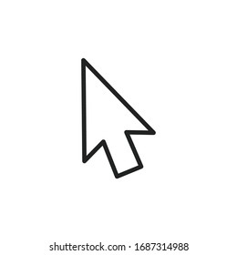 Simple cursor line icon. Stroke pictogram. Vector illustration isolated on a white background. Premium quality symbol. Vector sign for mobile app and web sites.