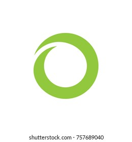 simple curves circle object logo vector