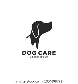 simple and cute dog logo