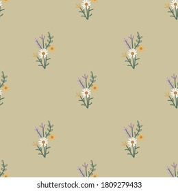 simple cute flower seamless pattern.Perfect for wallpapers, web page backgrounds, surface textures, textile.
