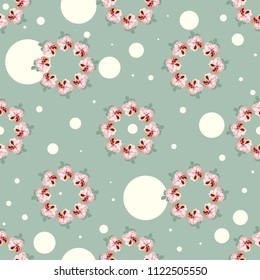 Simple cute pattern in small-scale flowers. Shabby chic millefleurs. Floral seamless background for textile or book covers, manufacturing, wallpapers, print, gift wrap and scrapbooking.
