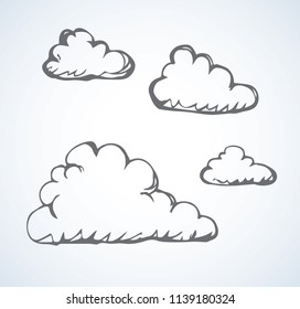 Simple cute shape. Heaven drizzle element form template on light backdrop. Freehand linear black ink hand drawn picture emblem sketchy in art retro scribble style pen on paper with space for text