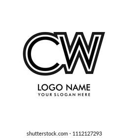 Simple CW initial Logo design template vector illustration