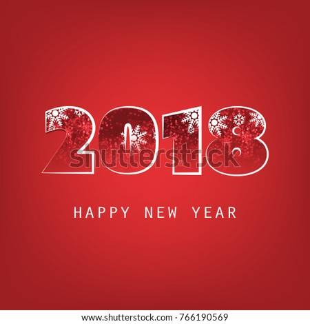 simple dark red new year card cover or background design template 2018
