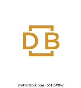 Simple DB initial Logo designs template vector illustration
