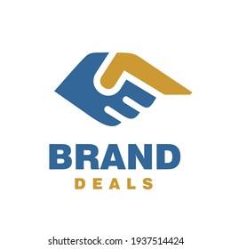 Simple Deals Logo Handshake Symbol