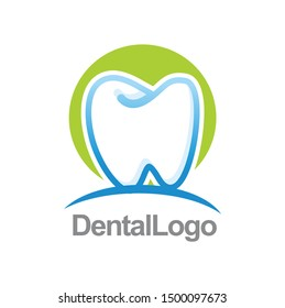 simple dental logo design template