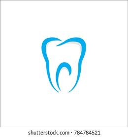 simple dental logo. vector.