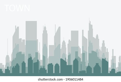 simple design city silhouette illustration