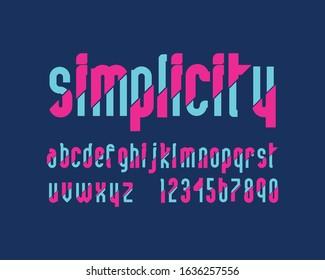 Simple designer font set with dual tone
