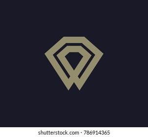 simple dimond logo icon vector.