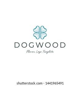 Simple Dogwood Flower Logo Template