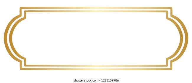 A Simple Double Lined Vector Border or Frame