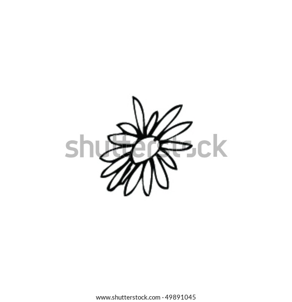 Simple Drawing Flower Head Stock Vector Royalty Free 49891045