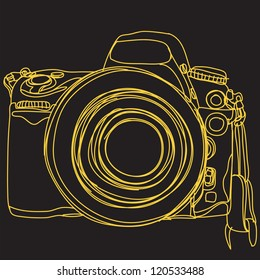 Simple DSLR. camera : EPS. 10 Vector