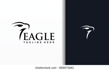 the simple eagle head logo