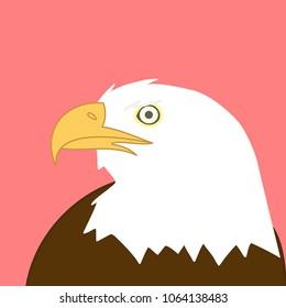 Simple eagle vector illustration.