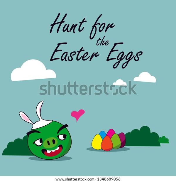 Vector De Stock Libre De Regalías Sobre Simple Easter Eggs