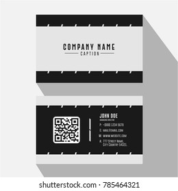 Simple and effective Black and White Minimal Business Card