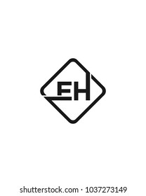 Simple EH initial Logo design template vector illustration
