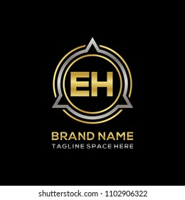 Simple EH initial Logo design template vector illustration