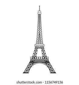 Simple Eiffel Tower silhouette illustration