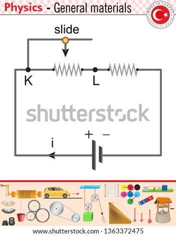 Simple Electric Circuit Physics Stock Vector (Royalty Free