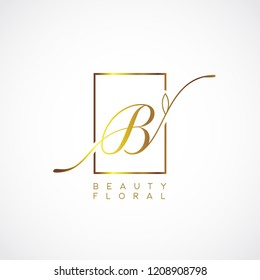 Simple Elegance Initial Letter B Type Logo Sign Symbol Icon