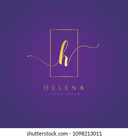 Simple Elegance Initial Letter H Type Logo Sign Symbol Icon
