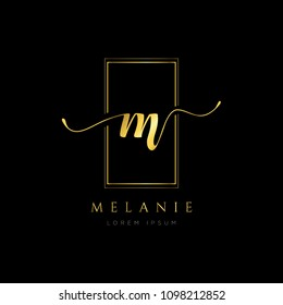 Simple Elegance Initial Letter M Type Logo Sign Symbol Icon