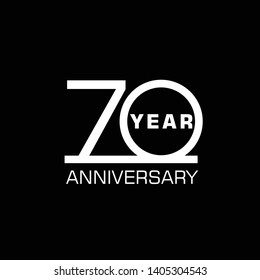 Simple and elegant 70 Year Anniversary template design