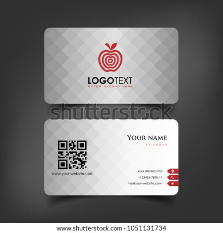 Simple Elegant Business Card Templates White Stock Vector Royalty