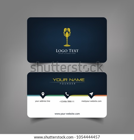 Simple elegant business card templates dark stock vector royalty simple elegant business card templates with dark wine styles identity card templates friedricerecipe Image collections